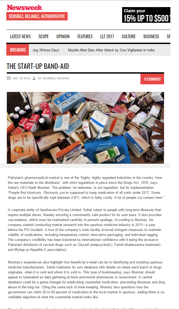 newsweek-pakistan-sehatpk-onlinepharmacy-fazaldin-pakistan-news-pr-digital-healthcare-pakistan-medicines-fake-drugs-spurious